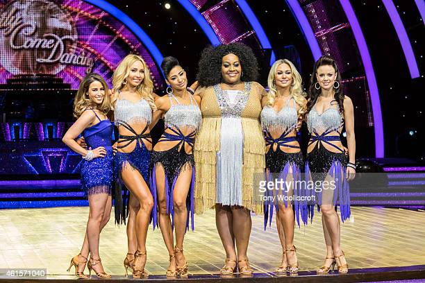 The Female dancers of Strictly Coming Dancing 2015 attends a photocall to launch the Strictly Come Dancing Live Tour 2015 at Birmingham Barclaycard...