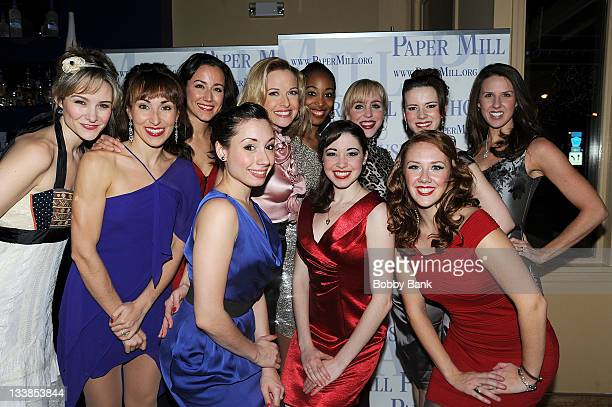 the female ensemble and swing cast attends the white christmas cast party at the - Cast Of White Christmas