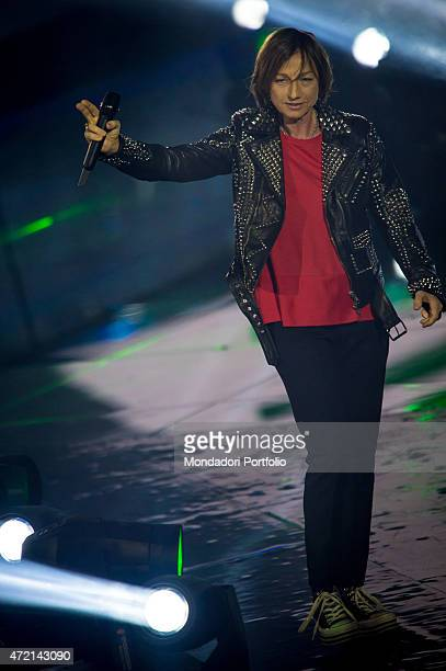 'The female singersongwriter Gianna Nannini during the final of the the talent show X Factor Assago Italy 11th December 2014 '