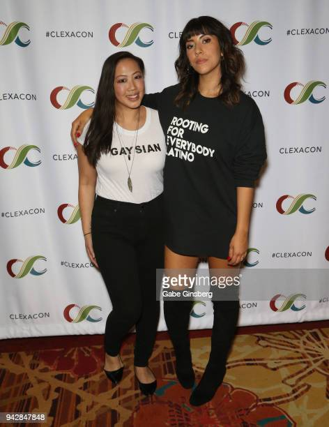 The Feminism Project CoFounder and journalist Chloe Tse and actress Stephanie Beatriz attend the ClexaCon 2018 convention at the Tropicana Las Vegas...
