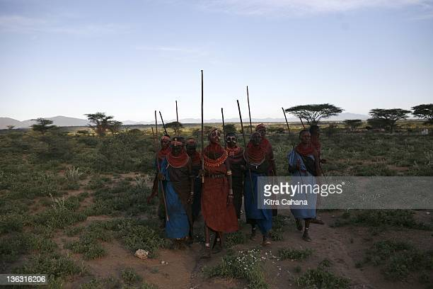 The feminist Umoja village in the Samburu region of northern Kenya in May 2008 Leader of the community is Rebecca Lolosoli She has banded together...
