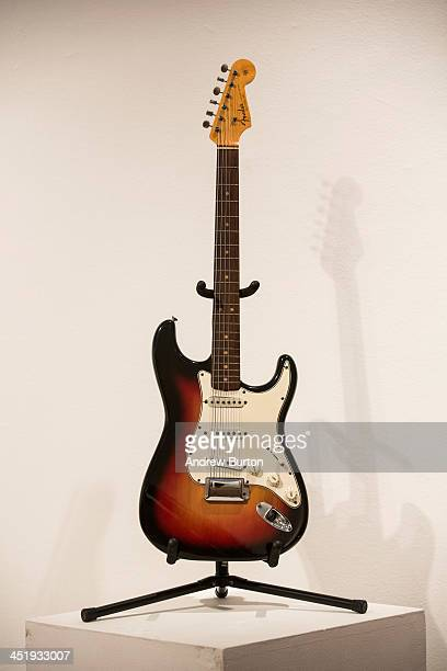The Fender Stratocaster electric guitar played by musician Bob Dylan on July 25 1965 at Newport Folk Festival better known as the night Dyan went...