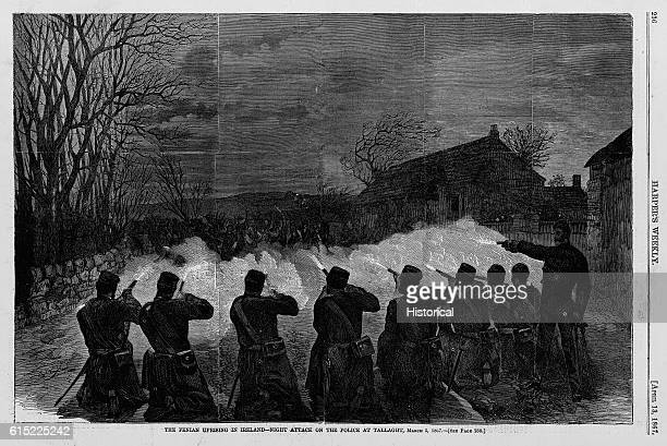 The fenian uprising in Ireland night attack on the police at Tallaght March 5 1867 See page 23