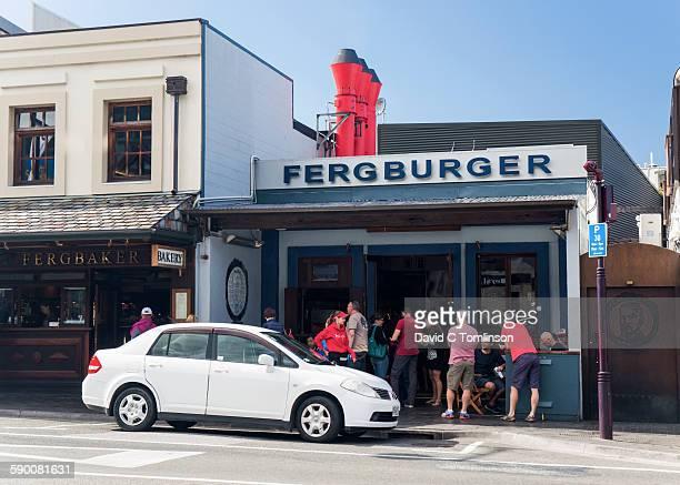 The Fergburger fast food restaurant, Queenstown