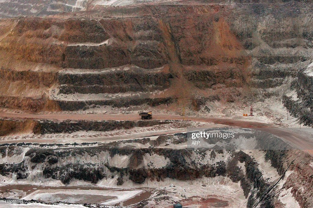 TO GO WITH AFP STORY CANADA-MINING-ENVIR : News Photo