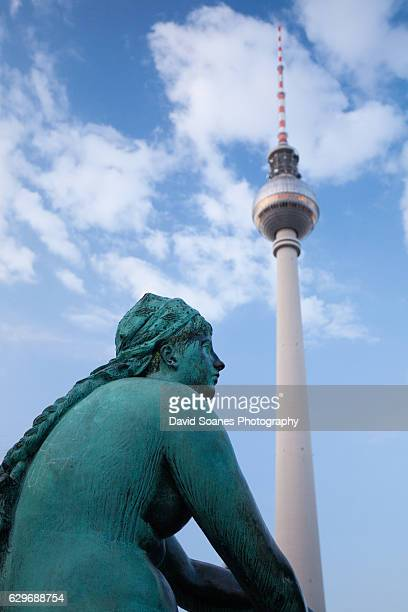 The Fernsehturm or Television Tower in Berlin, Germany