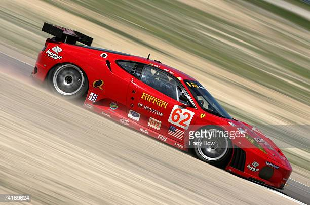 The Ferrari 430 GT is driven by Mika Salo and Jaime Melo during practice for the American Le Mans Series Utah Grand Prix at Miller Motorsports Park...