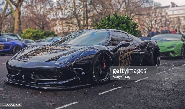 The Ferrari 458 Liberty Walk on the streets on London England The car was one of many that took part in The Cannon Run driving from point to point...
