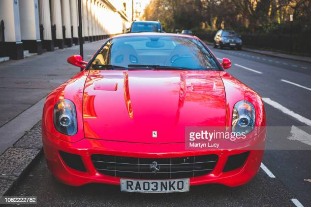 The Ferrari 599 GTB in London England The 599 GTB was Ferrari's front engined twoseat flagship replacing the 575M Maranello in 2006 as a 2007 model...