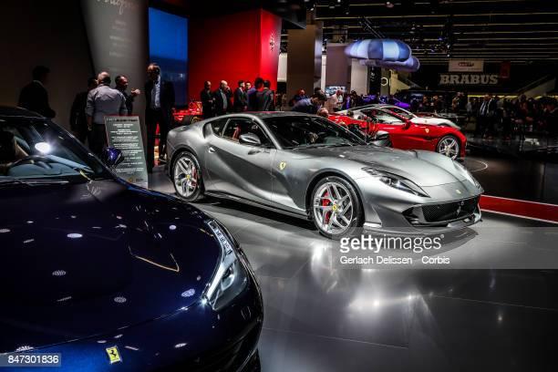 The Ferrari 812 Superfast on display at the 2017 Frankfurt Auto Show 'Internationale Automobil Ausstellung' on September 13 2017 in Frankfurt am Main...
