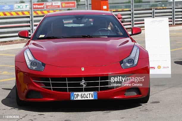 The Ferrari FF is displayed on July 19, 2011 in Maranello, Italy. The Ferrari World Design Contest has been launched by Ferrari in collaboration with...