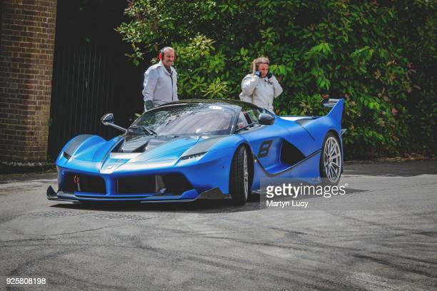 The Ferrari FXX K heads to the start line of the Goodwood hill climb driven by racing driver James Calado Ferrari brought a host of cars including...