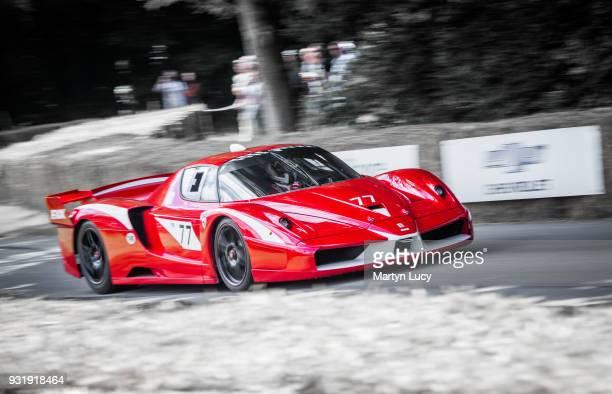 The Ferrari FXX tackles the hillclimb at Goodwood Festival of Speed on June 24 2016 Ferrari's 'XX' program consists of three Ferrari's the Enzo the...