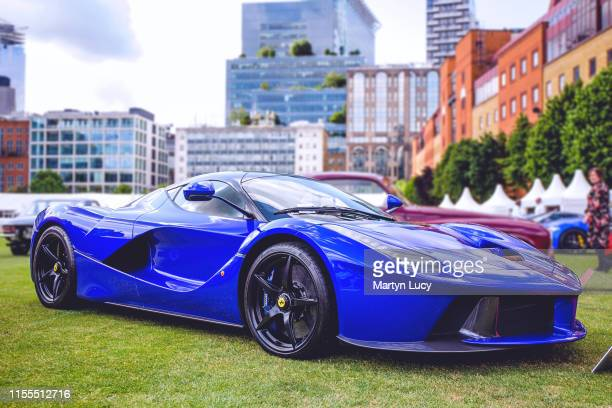 The Ferrari LaFerrari on display at The London Concours event The Honourable Artillery Company host the two day luxurious automotive garden party at...