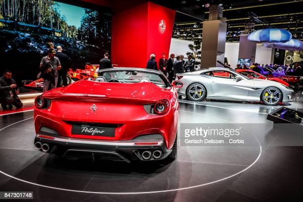 The Ferrari Portofino on display at the 2017 Frankfurt Auto Show 'Internationale Automobil Ausstellung' on September 13 2017 in Frankfurt am Main...