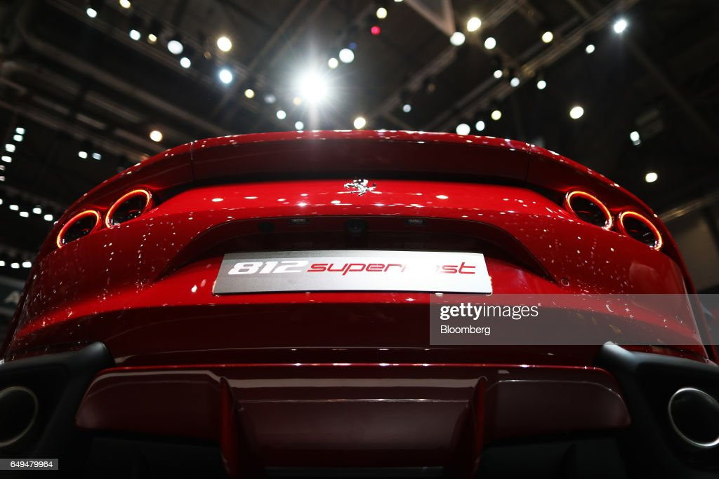 The Ferrari Prancing Horse Logo Sits On The Rear Of A Ferrari Nv 812