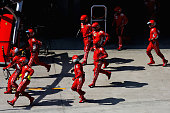 shanghai china ferrari team prepares for