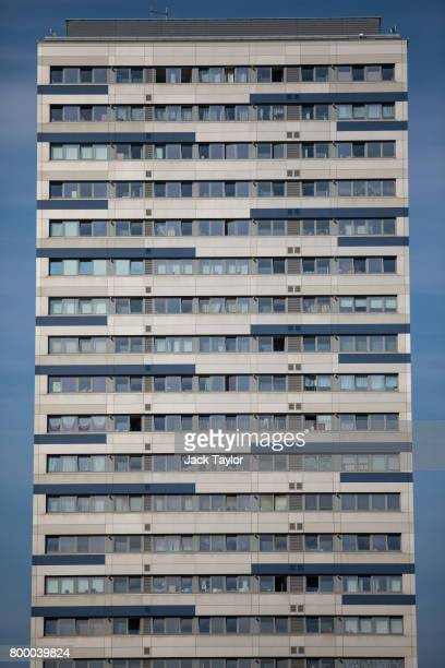 The Ferrier Point residential block stands in Caning Town on June 20 2017 in London England The Government has ordered councils across Britain to...