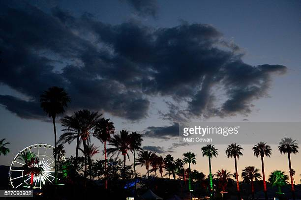 The ferris wheel and sky are seen during 2016 Stagecoach California's Country Music Festival at Empire Polo Club on May 01 2016 in Indio California