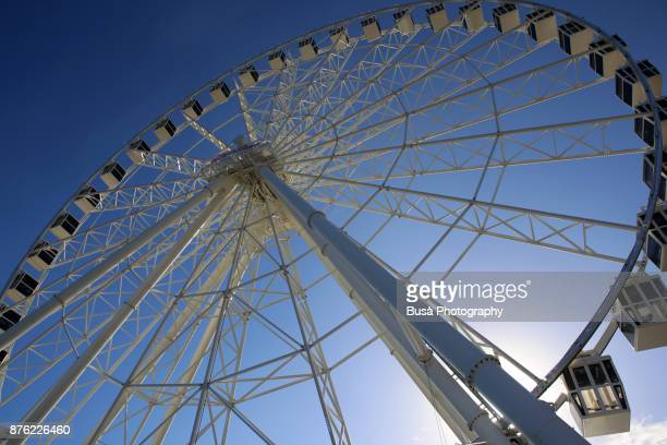 the ferris wheel at the atlantic city steel pier. atlantic city, new jersey, usa - high roller ferris wheel stock photos and pictures