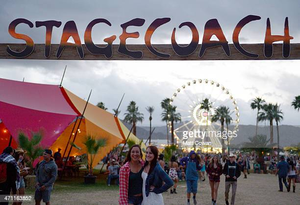 The Ferris wheel is seen during day two of 2015 Stagecoach California's Country Music Festival at The Empire Polo Club on April 25 2015 in Indio...