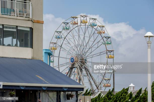 The ferris wheel of Atlantic Fun Park at 233 15th Street sits idle on May 22 in Virginia Beach VA This is the first day of the beach's reopening for...