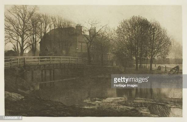 The Ferry Boat Inn, Tottenham, 1880s. A work made of photogravure, plate xxviii from the album 'the compleat angler or the contemplative man's...