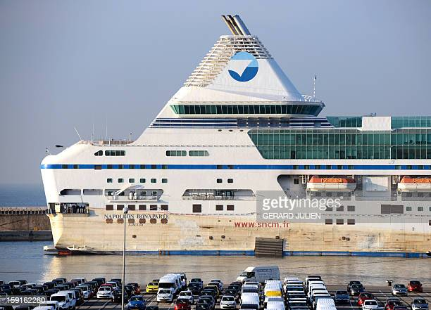 The ferry NapoleonBonaparte of French SNCM company which hit a dock late October in the port of Marseille southern France during a violent gale is...