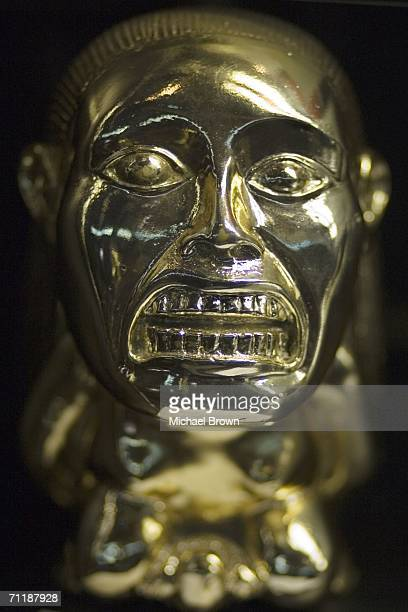 The fertility idol from 'Raiders of the Lost Ark' sits on display at Planet Hollywood on June 11 2006 in New York City The piece is part of rare...