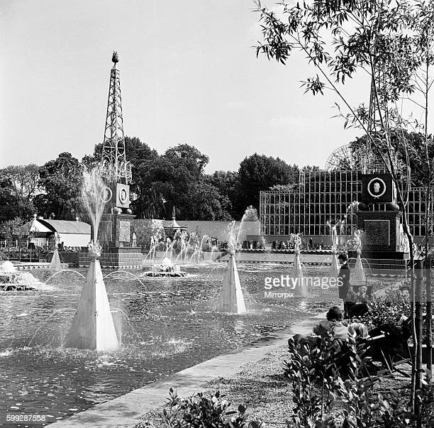 The Festival Gardens in Battersea Park, London. 28th August 1952.