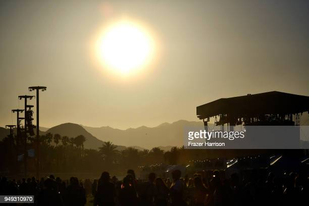 The festival grounds during the 2018 Coachella Valley Music And Arts Festival at the Empire Polo Field on April 20 2018 in Indio California