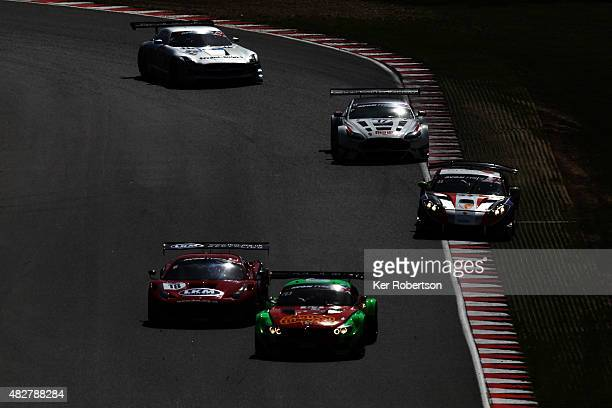 The FF Corse Ferrari 458 Italia of Gary Eastwood and Adam Carroll and the Barwell Motorsport Team Russia BMW Z4 of Jon Minshaw and Phil Keen head a...