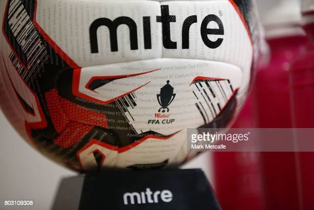 The FFA Cup ball is seen during the FFA Cup Round of 32 Official Draw on June 29 2017 in Sydney Australia