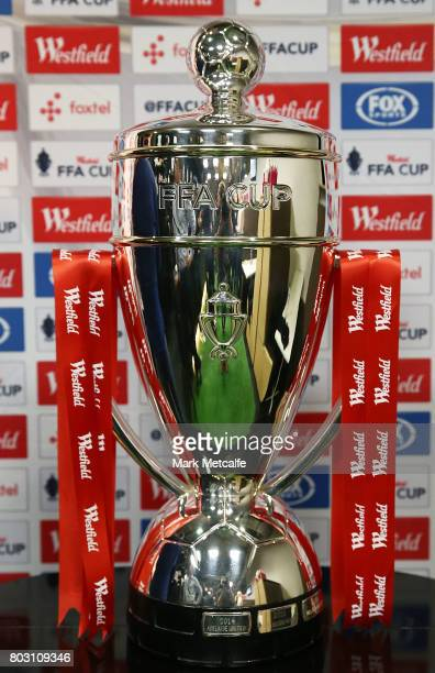 The FFA Cup is seen during the FFA Cup Round of 32 Official Draw on June 29 2017 in Sydney Australia