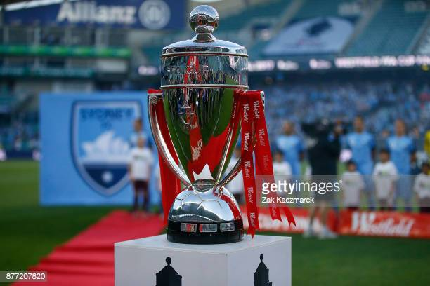 The FFA Cup Trophy is seen during the FFA Cup Final match between Sydney FC and Adelaide United at Allianz Stadium on November 21 2017 in Sydney...