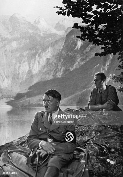 The Führer at the Upper Lake Berchtesgaden Bavarian Alps Germany 1936 German Nazi leader Adolf Hitler during one of his frequent stays at his...