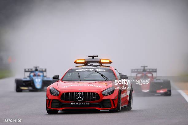 The FIA Safety Car leads the field at the start during Round 5:Spa-Francorchamps race 3 of the Formula 3 Championship at Circuit de Spa-Francorchamps...