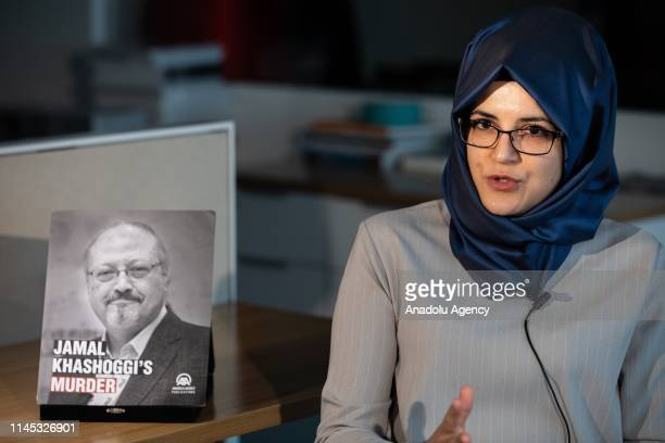 The fiancee of murdered Saudi Arabian journalist Jamal Khashoggi, Hatice Cengiz speaks during an exclusive interview in Washington, United States on...