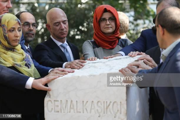The fiancee of murdered Saudi Arabian journalist Jamal Khashoggi, Hatice Cengiz , Amazon CEO Jeff Bezos and Nobel Peace Prize Winner Tawakkol Karman...