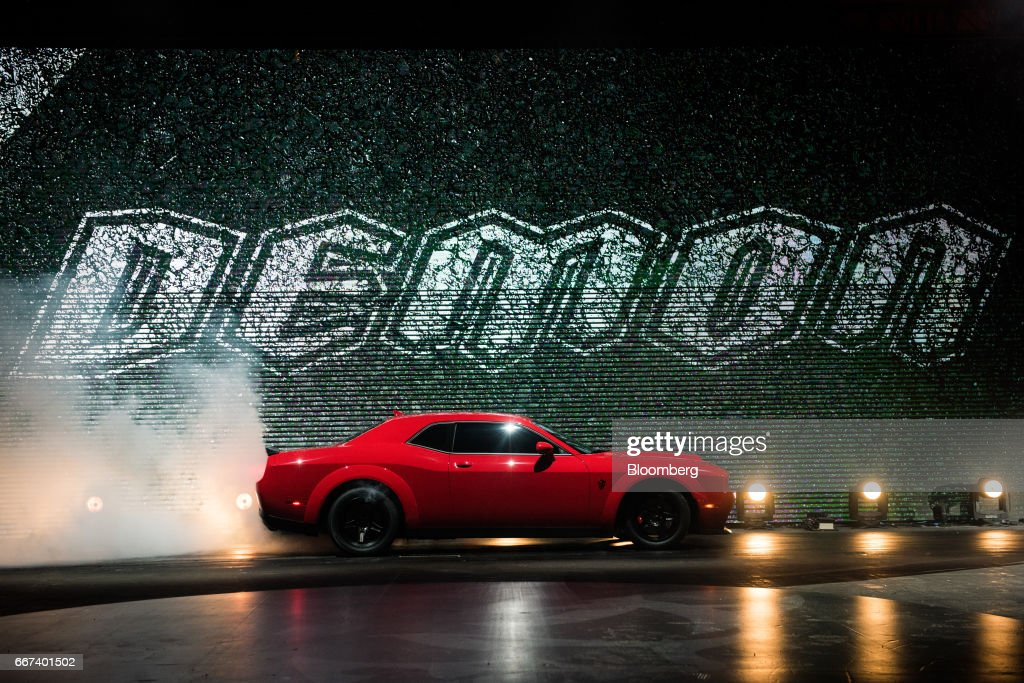 Fiat Chrysler Automobiles NV Dodge Demon Reveal Ahead Of The 2017 New York International Auto Show (NYIAS) : News Photo