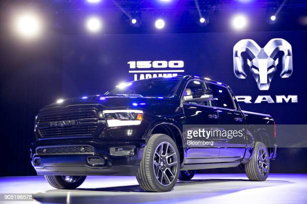 The Fiat Chrysler Automobiles NV 2019 Ram 1500 Laramie pickup truck is unveiled during the 2018 North American International Auto Show in Detroit...