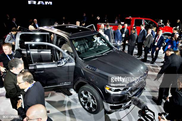The Fiat Chrysler Automobiles NV 2019 Ram 1500 Limited pickup truck is displayed during the 2018 North American International Auto Show in Detroit...