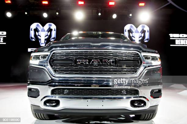The Fiat Chrysler Automobiles NV 2019 Ram 1500 Limited pickup truck is unveiled during the 2018 North American International Auto Show in Detroit...