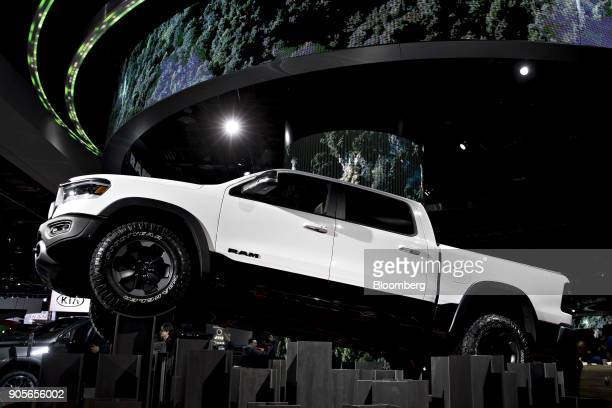 The Fiat Chrysler Automobiles NV 2019 Ram 1500 Rebel pickup truck is displayed during the 2018 North American International Auto Show in Detroit...