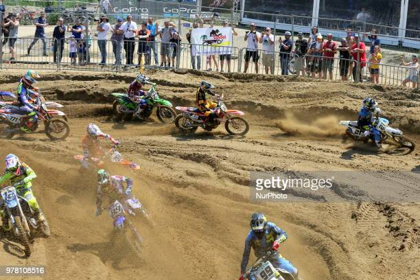 The Fiat Professional MXGP of Lombardia race at Ottobiano Motorsport circuit on June 17 2018 in Ottobiano Italy