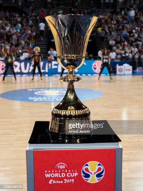 The FIBA Basketball Wolrd cup 2019 cup at the Sud de France Arena on September 16 2018 in Montpellier France