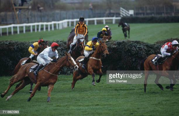 The field at Canal Turn during the Grand National at Aintree Racecourse Liverpool 4th April 1992