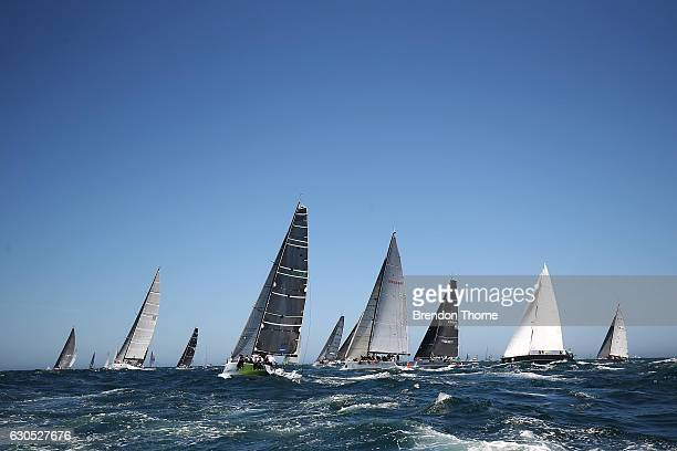 The field head out to sea during the 2016 Sydney To Hobart Yacht Race on December 26 2016 in Sydney Australia