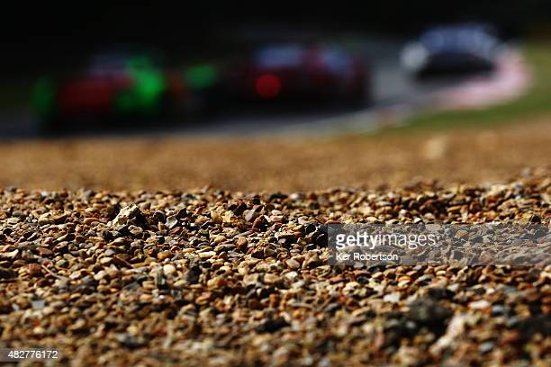 The field makes its way down Clearways during the British GT Championship race at Brands Hatch on August 2 2015 in Longfield England