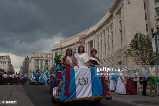 The Fiesta DC Latino Festival an annual celebration of Latino culture marches down Constitution Avenue on September 16 2017 in Washington DC One...